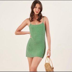 Reformation Polka Dot Mini Slip Dress